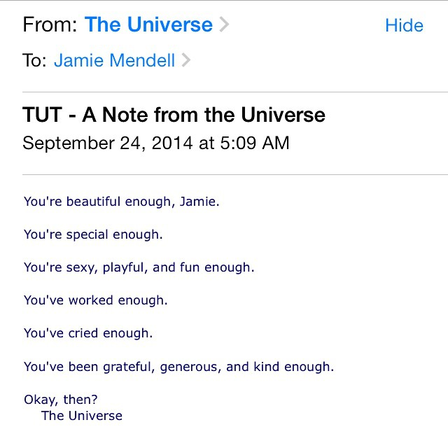 Universe, what would I do without you? ? love my daily notes!