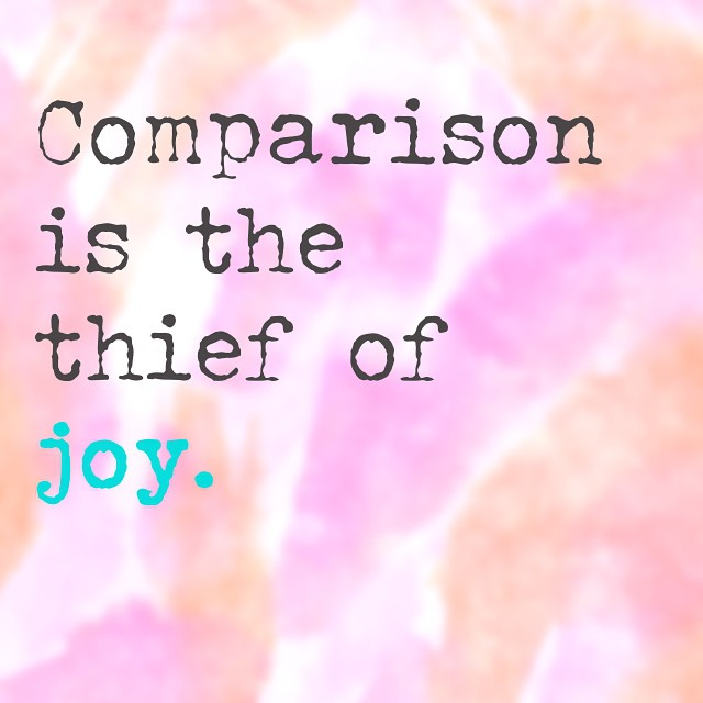 Comparison is the thief of joy -- such a good one. It's so true -- the more you focus on appreciating who you are, where you're at and being present, the more joy you can let in. I wanna #choosejoy. Who's with me?? Thanks @thedailylove for the inspiration today.