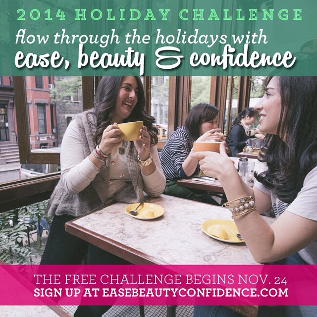 It's finally here!! A totally free two week holiday challenge to help you flow through the holidays with ease, beauty and confidence. @alisonleipzig and I have teamed up to make this awesome, so check it out! <<link in profile>> or go to www.easebeautyconfidence.com. Can't wait to celebrate the holidays with all of you! ???#ebcholidaychallenge