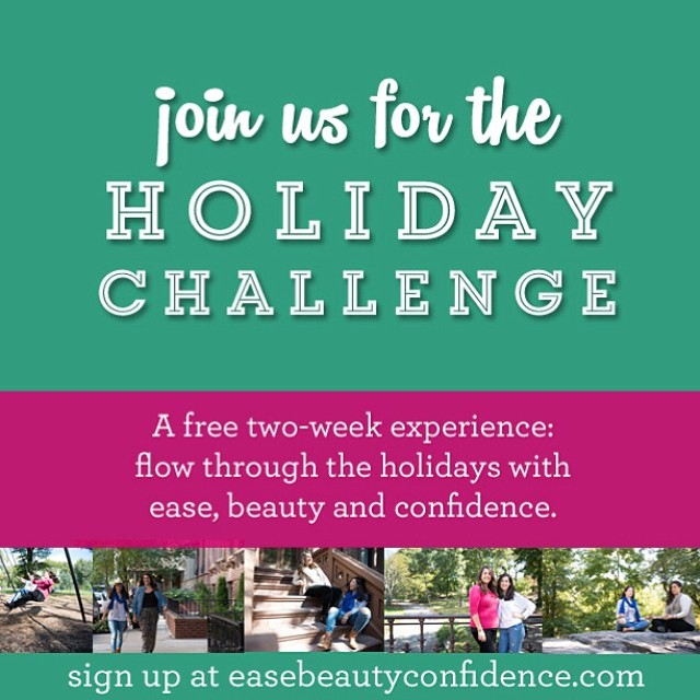 The holiday challenge starts in 1 week!! Join us for 14 free simple daily challenges to feel your best and thrive during the holiday season. @alisonleipzig and I can't wait to have daily fun with you!! If you're not signed up head to easebeautyconfidence.com. <<link in profile>>. ?? #ebcholidaychallenge