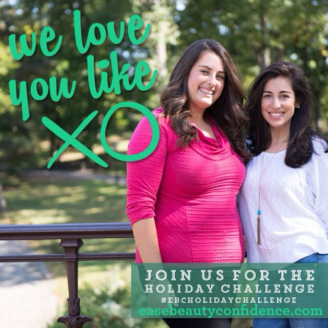 To all the people who signed up for our holiday challenge -- @alisonleipzig and I love you and can't wait to play with you over the next two weeks! Can't wait to see your Day 1 photos today. And for those of you who haven't signed up yet, it's not too late. Head over to easebeautyconfidence.com and join in on the fun. <link in profile> #ebcholidaychallenge