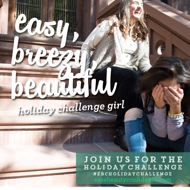 We can't wait to start the free holiday challenge in just over a week! Are you in yet?? We're gonna be challenging you to do one small thing per day to feel your best and the new insight you learn will stay with you way beyond the two week challenge. Sign up at easebeautyconfidence.com or <<link in profile>>. Can't wait to get to know you!! ??#ebcholidaychallenge
