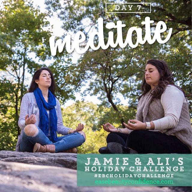 I can't wait to do @alisonleipzig's guided meditation this evening for Day 7 of the #ebcholidaychallenge  I've gotten more into meditating this year and am trying to turn it into a daily practice. It's a time to slow down, get quiet, and tune into yourself. What's your experience been like with meditation?? Enjoy your Sunday everyone and be on the lookout tonight for your email with Week 2 challenges! xx.