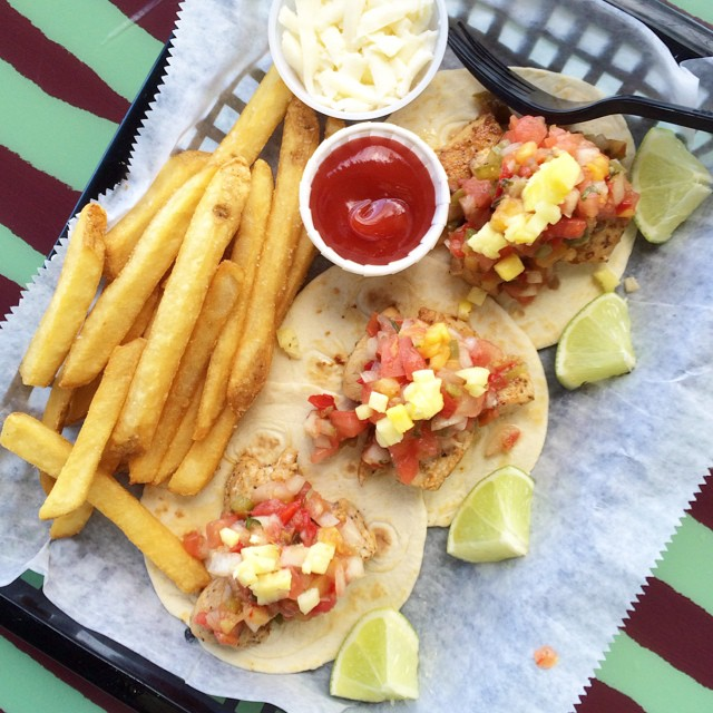 Florida living. Fish tacos! ?