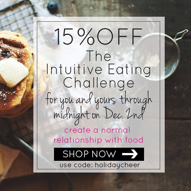 There's a few hours left to snag this discount! Join the hundreds of women who are going through / have gone through the 21 Day Intuitive Eating Challenge. Go to www.jamiemendell.com/courses to get signed up!!