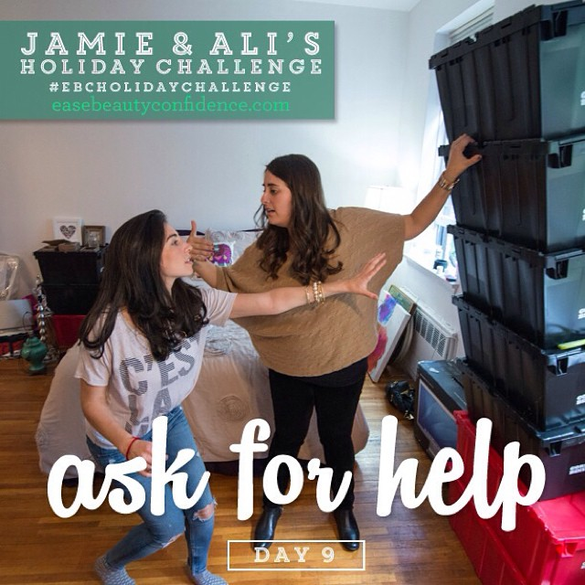 I love love today's #ebcholidaychallenge -- it's Day 9 and we are asking for help. We all have a ton going on and it's in our nature to want to manage it all independently. This often leads to overwhelm and stress! It's hard to ask people to help you out, but try to think about it in the sense that you're giving someone who cares about you the *opportunity* to be there for you, which they will likely enjoy! This morning I had a heart to heart with one of my girlfriends about some things that were bothering me. I initially felt like I was burdening her but then realized how it only brought us closer. Give this a shot today! @alisonleipzig