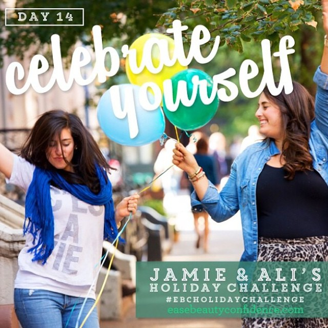 It's the last day of the #ebcholidaychallenge and it's time to celebrate yourself. Whether you did every challenge or none, thank yourself and be proud of yourself for even signing up! @alisonleipzig and I have loved doing this with you for the past two weeks and hope you've learned some tips for feeling more ease, beauty and confidence in your lives. We are all here together trying to live as happy and healthy as we can and it's so fun to be able to support one another like this. ??