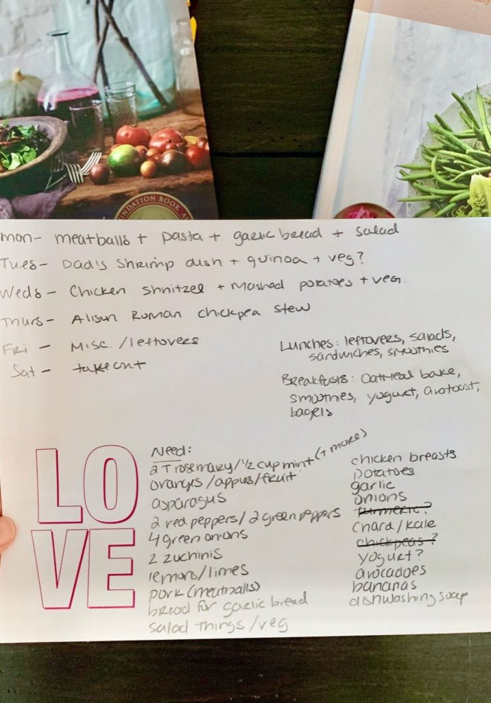 Meal Planning Photo